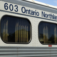 Ontario Northland passenger train at North Bay