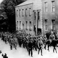 Regiment of Gloucestershires marching up Jamestown with a goat leading in front during the Boer War. The Conservative government was warned in advance by bureaucrats that its 110th anniversary commemoration of the Boer War celebrated a sensitive conflict. THE CANADIAN PRESS/AP