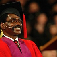 "Rubin ""Hurricane"" Carter smiles as he waits to receive an honorary degree at York University on Oct. 14, 2005 in Toronto. Carter, the former American boxer imprisoned nearly 20 years for three murders before the convictions were overturned, has died at his home in Toronto. He was 76. THE CANADIAN PRESS/Nathan Denette"