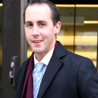 OTTAWA, ON: NOVEMBER 13, 2013 -Michael Sona leaves the Ottawa Court House, November 13, 2013. Sona, who was communications director for Conservative candidate Marty Burke, faces one charge under the Elections Act in connection with a fraudulent election day robocall in Guelph, Ont., which sent hundreds of opposition supporters to the wrong polling station. (Jean Levac/Ottawa Citizen) For Ottawa Citizen story by , NATIONAL Assignment #115146 ORG XMIT: POS2013111317021229