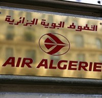 The sign of the Air Algerie company office, is pictured on Opera avenue in Paris Thursday July 24, 2014. THE CANADIAN PRESS/AP, Remy de la Mauviniere