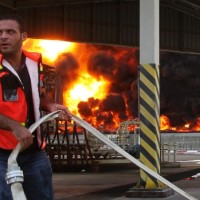 mideast-gaza-power-plant-fire