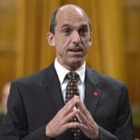 Public Safety Minister Steven Blaney stands in the House of Commons oin Ottawa, on Monday Sept.29, 2014 . THE CANADIAN PRESS/Adrian Wyld