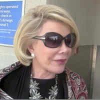 Joan Rivers discusses Gaza at LAX airport Los Angeles, CA