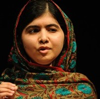 Malala Yousafzai speaks during a media conference at the Library of Birmingham, in Birmingham, England, Friday, Oct. 10, 2014. The House of Commons has unanimously supported bestowing honorary Canadian citizenship upon the Pakistani teenager and co-winner of this year's Nobel Peace Prize. THE CANADIAN PRESS/AP/Rui Vieira