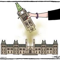 Parlement,main,femme