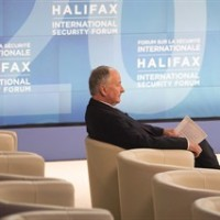 Defence Minister Rob Nicholson waits for the start of the opening session at the Halifax International Security Forum on Friday, November 21, 2014.THE CANADIAN PRESS/Andrew Vaughan