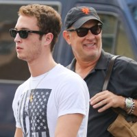 Tom Hanks and Son in New York City