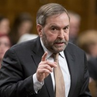 NDP leader Tom Mulcair rises during question period in the House of Commons Monday January 26, 2015 in Ottawa. THE CANADIAN PRESS/Adrian Wyld