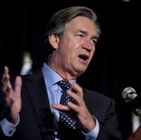Canadian Ambassador to the United States Gary Doer addresses the Vancouver Board of Trade in Vancouver on Oct. 24, 2012. Doer predicts a wild ride ahead in the Keystone XL debate, with this week's presidential veto of a pro-pipeline bill just one more twist in the journey. THE CANADIAN PRESS/Jonathan Hayward