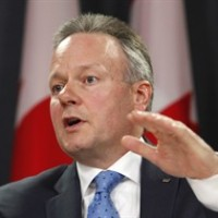 Bank of Canada Governor Stephen Poloz speaks on the Bank of Canada's decision to hold the overnight rate at 0.75 per cent at a news conference in Ottawa on Wednesday, April 15, 2015. THE CANADIAN PRESS/ Patrick Doyle
