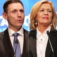Patrick Brown and Deputy PC leader Christine Elliott