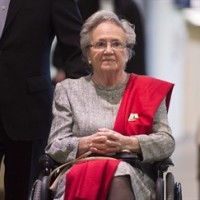 The Crown is recommending a four-year prison sentence for former Quebec lieutenant-governor Lise Thibault on fraud and breach of trust charges. Thibault, who has pleaded guilty to fraud, is shown heading to court in Quebec City on Thursday, May 21, 2015 for sentencing arguments. THE CANADIAN PRESS/Jacques Boissinot