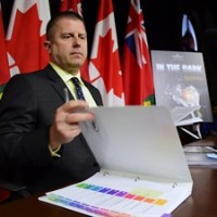 Ontario Ombudsman Andre Marin prepares to speak about his report on Hydro One billing practices and customer service at a press conference in Toronto on Monday, May 25, 2015. THE CANADIAN PRESS/Frank Gunn