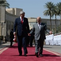 Prime Minister Stephen Harper meets with Haydar al-Abadi, Prime Minister of Iraq, at the Presidential Palace in in Baghdad, Iraq on Saturday, May 2, 2015. THE CANADIAN PRESS/Sean Kilpatrick
