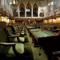 The House of Commons sits empty ahead the resumption of the session on Parliament Hill Friday September 12, 2014 in Ottawa. Parliament will resume Sept. 15. THE CANADIAN PRESS/Adrian Wyld