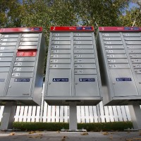 New community mailboxes in Kanata. Assignment 118536 // Photo taken at 11:33 on October 2, 2014. (Wayne Cuddington/Ottawa Citizen)