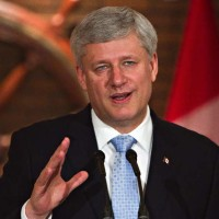 Prime Minister Stephen Harper makes a funding announcement for Canada's 150th anniversary celebrations, in Quebec City, Thursday, June 25, 2015. THE CANADIAN PRESS/Clement Allard  0702 col coyne