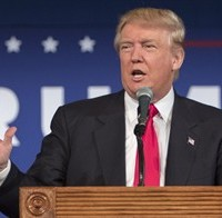 FILE - In this July 21, 2015 file photo, Republican presidential candidate Donald Trump speaks in Bluffton, S.C. Trump's recent poll results earned him a place in the first prime time Republican presidential debate, Thursday. (AP Photo/Stephen B. Morton, File)