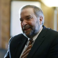NDP leader Tom Mulcair is interviewed in his Centre Block office by The Ottawa Citizen's Mark Kennedy on Friday morning, Jan. 16, 2015. (David Kawai / Ottawa Citizen)