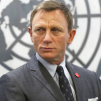 AP10ThingsToSee - In this photo provided by the United Nations, actor Daniel Craig appears at the U.N. headquarters on Tuesday, April 14, 2015, were he was designated a UN Global Advocate for the Elimination of  Mines and Explosive Hazards. (Mark Garten/United Nations via AP)
