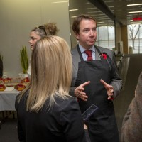 New finance minister Bill Morneau (not shown) and Treasury Board President Scott Brison (seen here) meet with employees in their departments over coffee and timbits on Tuesday morning. Assignment - 122121 Photo taken at 08:17 on November 10. (Wayne Cuddington/ Ottawa Citizen)