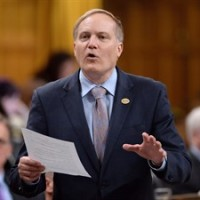 """NDP MP Peter Julian asks a question during question period in the House of Commons, in Ottawa, on May 28, 2015. """"The Reform Act is something that was brought, I think, in the specific circumstance to try to pry open the lack of democracy within the Conservative caucus, but the NDP has already followed those practices and gone beyond those practices for many years,"""" said Julian. THE CANADIAN PRESS/Sean Kilpatrick"""