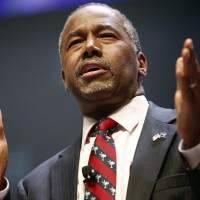 U.S. Republican candidate Dr. Ben Carson speaks during the Heritage Action for America presidential candidate forum in Greenville, South Carolina in this September 18, 2015 file photo.  Carson said on September 20, 2015 that Muslims were unfit to be president of the United States, arguing their faith was inconsistent with American principles. REUTERS/Chris Keane/Files      TPX IMAGES OF THE DAY
