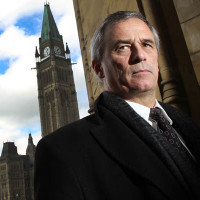 OTTAWA: NOVEMBER 3, 2010 -- Colonel Pat Stogran (ret'd) stands just outside the East Block on Parliament Hill, November 3, 2010, where he just finished appearing before a Senate committee to give testimony related to the treatment of veterans by the Department of Veterans Affairs. (Wayne Cuddington/Ottawa Citizen).  For David Pugliese (Ottawa Citizen). VETS-STOGRAN