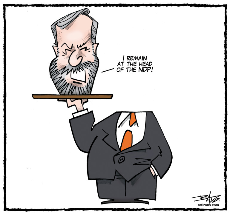 I remain at the head of the NDP!