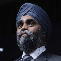 Defence Minister Harjit Sajjan holds a press conference in Ottawa on Wednesday, April 6, 2016. iPolitics/Matthew Usherwood