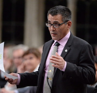 Minister of Fisheries, Oceans and the Canadian Coast Guard Hunter Tootoo answers a question during Question Period in the House of Commons on Parliament Hill in Ottawa on Thursday, May 5, 2016. THE CANADIAN PRESS/Adrian Wyld