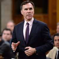 Finance Minister Bill Morneau answers a question during question period in the House of Commons on Parliament Hill in Ottawa on Friday, June 3, 2016. THE CANADIAN PRESS/Adrian Wyld ORG XMIT: AJW503