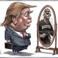 Donald Trump comes face-to-face with Bigotry in the mirror