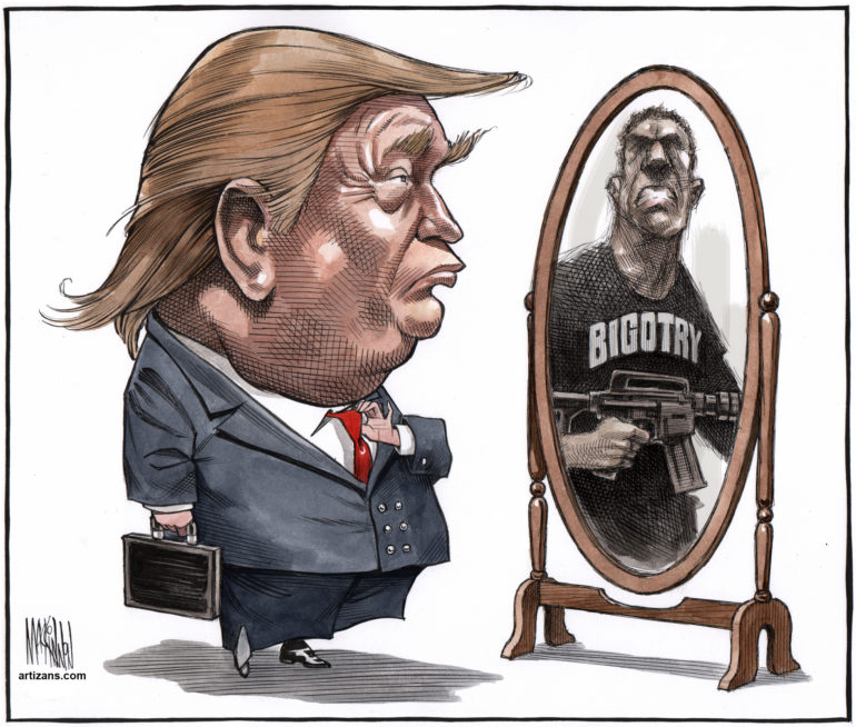 Donald Trump comes face-to-face with Bigotry in the mirror ...