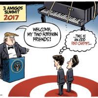 How President Trump would treat Justin Trudeau and Enrique Pena Nieto