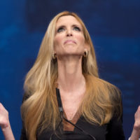 Ann Coulter gestures while speaking at the Conservative Political Action Conference (CPAC) in Washington,  Friday, Feb. 10, 2012.  (AP Photo/J. Scott Applewhite)