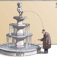 Gov't 'Entitilement' statue pees on citzen