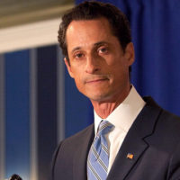 NEW YORK, NY - JUNE 06:  (EDITORS NOTE: Retransmission with alternate crop.)  Rep. Anthony Weiner (D-NY) admits to sending a lewd Twitter photo of himself to a woman and then lying about it during a press conference at the Sheraton Hotel on 7th Avenue on June 6, 2011 in New York City. Weiner said he had not met any of the women in person but had numerous sexual relationships online while married.  (Photo by Andrew Burton/Getty Images)
