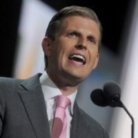 Eric Trump speaks on day three of the Republican National Convention at Quicken Loans Arena in Cleveland, Ohio on July 20, 2016. Donald Trump will formally accept the Republican Party's nomination for President on Thursday night July 21. Photo by Dennis van Tine/Sipa USA