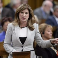 Interim Conservative Leader Rona Ambrose asks a question during Question Period in the House of Commons in Ottawa on Thursday, September 22, 2016. THE CANADIAN PRESS/Adrian Wyld