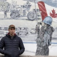 ***Freelance Photo - Postmedia Network use only. - NO SALES. Resale rights remain with  photographer *** CORNWALL, ONTARIO: December 18, 2015 -- NATIONAL Collin Fitzgerald, a decorated Afghanistan war veteran with post-traumatic stress disorder, poses at the local legion outside his lawyer's offices in Cornwall, Ontario December 18, 2015.  (Christinne Muschi for National Post)  //1228-na-soldier ORG XMIT: POS1512182157555148 ORG XMIT: POS1512271314225441 ORG XMIT: POS1512271317159185