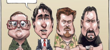 Justin Trudeau consults Trailer Park boys about cash-for-access scandal - Color