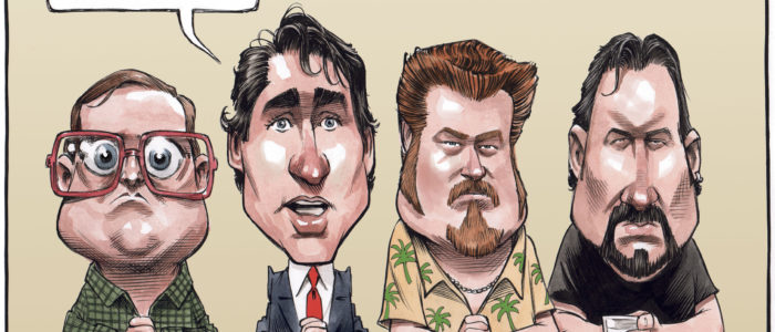 Justin Trudeau consults Trailer Park boys about cash-for-access scandal - Color