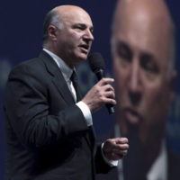 Canadian businessman Kevin O'Leary speaks during the Conservative Party of Canada convention in Vancouver, Friday, May 27, 2016. THE CANADIAN PRESS/Jonathan Hayward