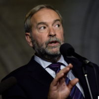 NDP leader Tom Mulcair speaks following a caucus meeting on Parliament Hill, Wednesday, Oct. 19, 2016 in Ottawa. THE CANADIAN PRESS/Justin Tang