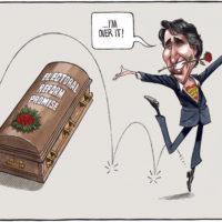 Justin Trudeau is over 'Electoral Reform Promise' casket