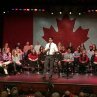 justin-trudeau-speaks-at-a-townhall-in-belleville-ont