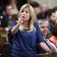 Conservative MP Michelle Rempel asks a question during Question Period in the House of Commons in Ottawa on Tuesday, June 7, 2016. Two high-profile Calgary politicians have become embroiled in a heated social media spat with Conservative MP Rempel accusing Mayor Naheed Nenshi of making a sexist remark. THE CANADIAN PRESS/Justin Tang