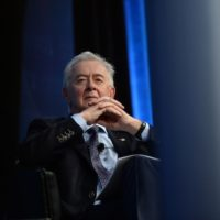 Preston Manning looks on as Alberta Premier Jim Prentice (not pictured) speaks during the Manning Networking Conference in Ottawa on Friday, March 6, 2015. THE CANADIAN PRESS/Sean Kilpatrick